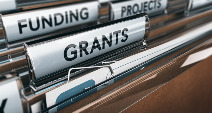 folder with 3 tags. Funding, grants, projects.